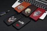 Diseño noble caja del teléfono de la PU Leahter móvil elegante diseño de bordado para el iPhone 6s 7