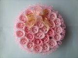 Flor de papel del jabón de Rose en conjunto de la dimensión de una variable del regalo del corazón