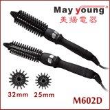 Brosse à cheveux d'alimentation de l'usine de fer professionnel Magic design céramique cheveux fer à friser