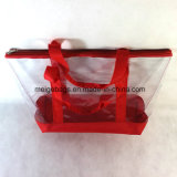 カスタムサイズおよびデザインの再使用可能なPVCショッピング・バッグ、