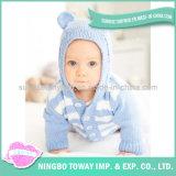 Camisola Hand Knitted do bebê de lãs do menino do inverno do algodão