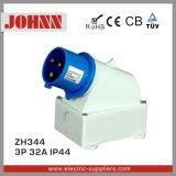 Plugue industrial montado de superfície de IP44 3p 32A