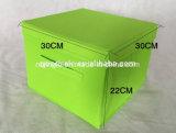 Rectángulo de almacenaje no tejido plegable de múltiples funciones barato con la maneta