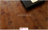 Handsculptedの無作法なヒッコリーの堅材のフロアーリングのヒッコリーによって設計される木のフロアーリング