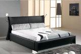 تصميم جديد أنيق حديث [جنوين لثر] سرير ([هك1081]) لأنّ غرفة نوم