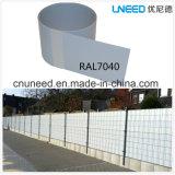 100%UV cerca el 19cm*2.53m dura del jardín del PVC de la resistencia Ral7040 1.3m m