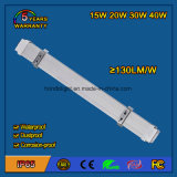 40W IP65 LED Tri-Proof Light Fixture com 5 anos de garantia