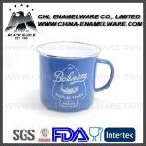 Rollled Rim Logotipo personalizado Impressão Chá Café Caneca de esmalte, aço inoxidável Rim Cast Iron Leite Camping Esmalte Mug; Copo de esmalte Falcon de aço carbono carbono, esmalte de esmalte