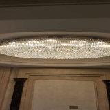 Whit van de Lamp van het Plafond van het Project van het Kristal van de Grootte van de manier Grote Hal