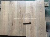 Suelo francés de la madera dura del roble del tablón ancho gris del color