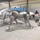 Suministro de obras de arte de acero inoxidable Customized Crafts Metal Escultura