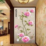 Het Digitale Afgedrukte Chinese Schilderen van de Pioen voor de Decoratie van de Vestibule