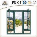 Vente directe personnalisée par fabrication de guichet en aluminium de tissu pour rideaux de la Chine