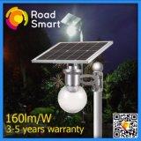 5years lumière solaire solaire imperméable à l'eau de jardin de réverbère de la garantie DEL