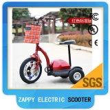 Cheap alimentée par batterie lithium trois roues scooter électrique pour adulte