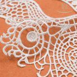 刺繍カラーで縫うことはレースの目隠しのレースを修繕する