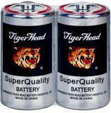 Batteria capa del rivestimento del metallo delle batterie R20s/3110 D Size/Um-2 della tigre con qualità eccellente
