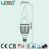 Lumière d'ampoule de bougie de Scob E14 de puce de CREE du brevet 5W 90ra (LS-B305-SB-CWWD/CWD)