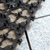 Azulejo al aire libre del Decking de la piedra de la naturaleza del granito con la base del PE para el jardín los 30*30cm