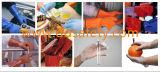 Gant de finition lisse de Woking de doublure de coton de PVC de rouge de Ddsafety 2017