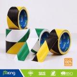 band van de Voorzichtigheid van 48mm*30m de Zwarte Gele - de Band van het Teken van de Vloer van pvc