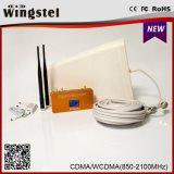 Répéteur de signal mobile à bande double CDMA / UMTS 850 / 2100MHz haute qualité avec antenne