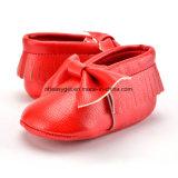 Baby Boys Girls Soft Chaussures à semelles Bowknots Tassel crèche PU Mocassins ESG10213