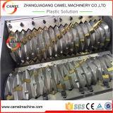 Desfibradora doble del eje para el barril de la botella de la película plástica/la desfibradora de dos ejes