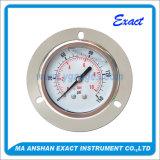 ステンレス鋼圧力正確に測オイルの圧力計前部フランジの圧力計