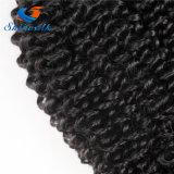 Монгольский Kinky вьющихся волос 100% прав волосы вьются комплекты черный цвет 1 место выходцев из вьющихся Kinky Реми волос