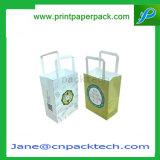 習慣のオフセットによって印刷されるクラフト紙の買物袋のギフト袋のショッピング・バッグの化粧品袋
