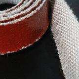 Feu à haute température bande bande de fibre de verre recouvert de caoutchouc de silicone