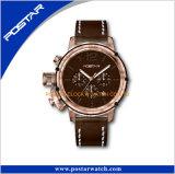 Sportliche Militärart-Doppelt-Vorwahlknopftimepieces-Mann Wrsit Uhr
