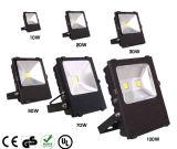 옥외 높은 산출 루멘 110lm/W 100W LED 투광램프를 사용하는