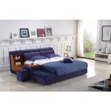 寝室の使用(FB8040A)のための紫色カラーファブリックベッド
