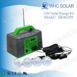 sistema solar portátil de 10W mini picovolt com os 5 bulbos do diodo emissor de luz