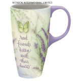 Tazza di ceramica di Latte della lavanda di Langs 18 once