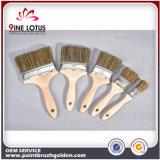 Головка краткости щетинки смеси высокого качества чисто с деревянной щеткой краски ручки