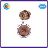 Croix/vis de tête d'hexagone de dispositif de fixation bride de Phillips galvanisées par M12 avec la rondelle