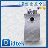 Шариковый клапан вафли нержавеющей стали 304 Didtek управляемый рукояткой
