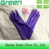 安い紫色の世帯の洗浄の手袋