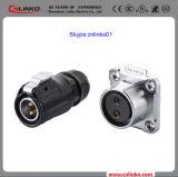 Energien-Verbinder 2pin der Cnlinko Marken-IP67 für industrielles Geräten-Panel-Montierungs-Kontaktbuchse mit Schutzabdeckung