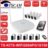 4CH 720p HD Wireless WiFi сетевой видеорегистратор комплекты Bullet IP-камера