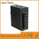 4つのイーサネットおよび4ファイバーポート19.6gbpsの産業ネットワークスイッチ