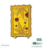 Emblema macio do Pin do esmalte do alimento do metal com emblemas personalizados da forma