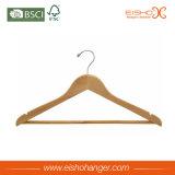 Kundenspezifischer Kleid-Verbrauch-hölzerne Kleidung-Aufhängung (WL8003YA)