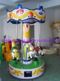 Gelukkige Mini Vrolijk van het Paard van de Carrousel van de Speler van Kinderjaren 3&6 gaat rond
