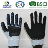Handschoenen van het Werk van de Veiligheid van de besnoeiing de Bestand met de Zandige Deklaag van het Nitril