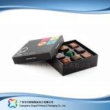 Rectángulo de empaquetado de cuero del regalo de la tarjeta del día de San Valentín para el chocolate del caramelo de la joyería (XC-fbc-014)