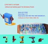 18650 batería recargable del paquete LiFePO4 de la batería del Litio-Ion de 18.5V 6.6ah para la batería del E-Vehículo
